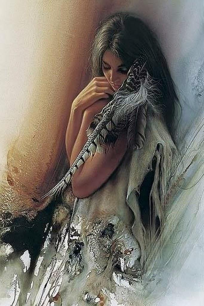 pinturas-al-oleo-de-mujeres-indigenas