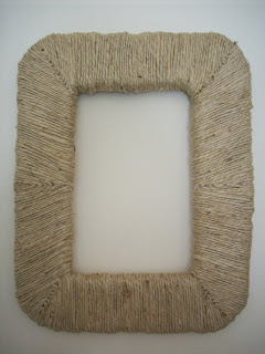 styrofoam upcycle picture frame