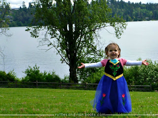 Inspired by Disney's FROZEN, a Princess Anna dress up apron tutorial