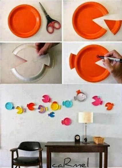DIY: Cuadros con Platos Desechables