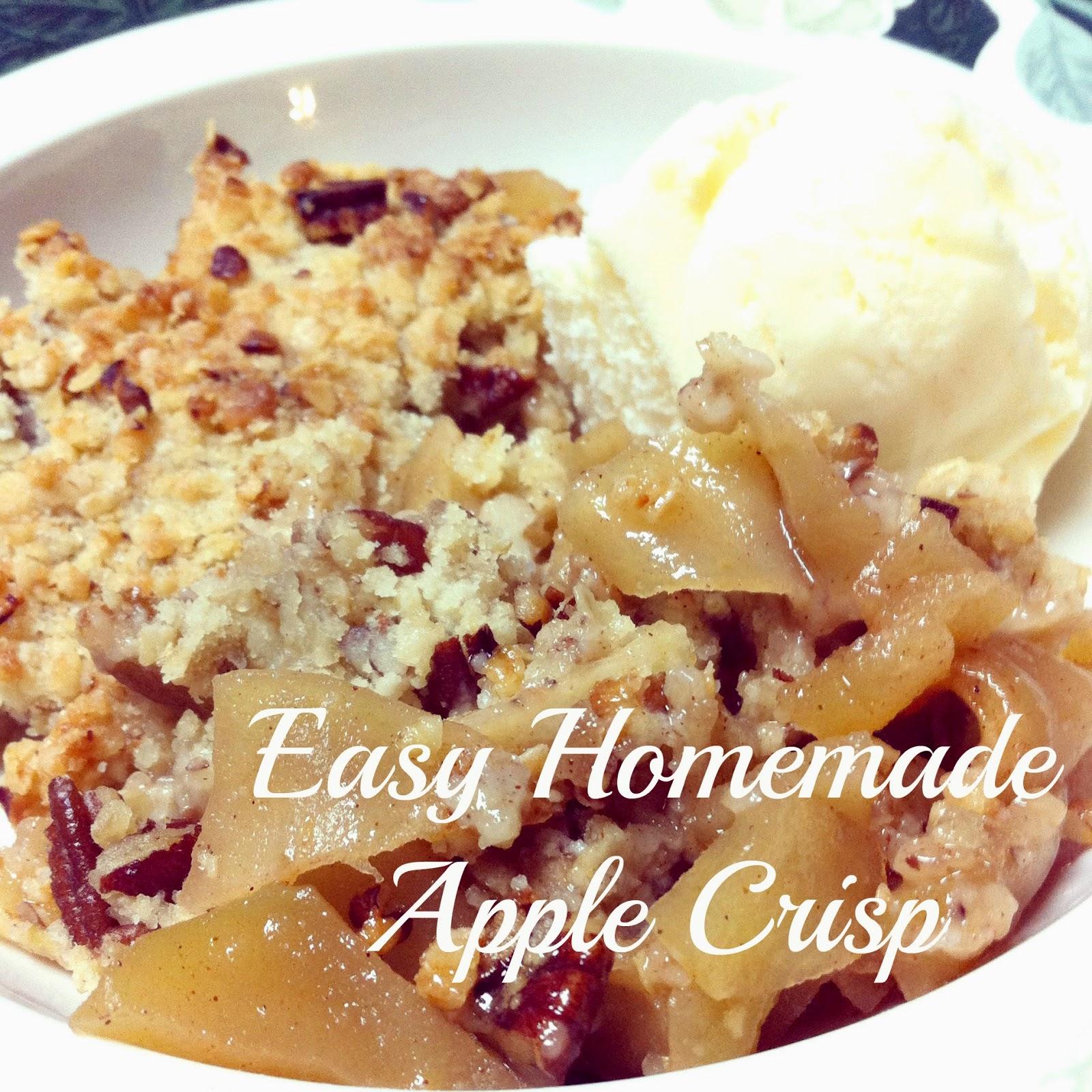 Easy Homemade Apple Crisp Hickory Ridge Studio
