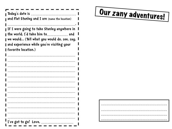 Stellar 2nd Grade Sweethearts Flat Stanleys Travel Journal – Flat Stanley Template