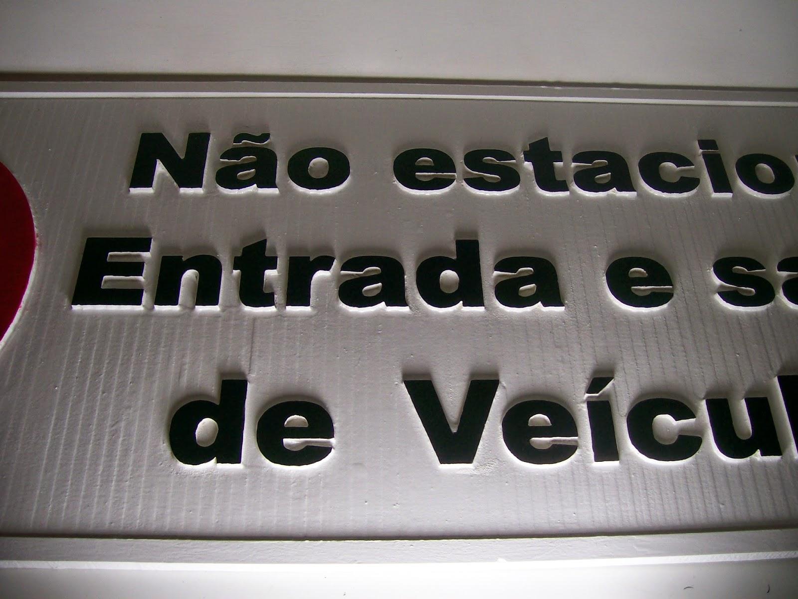 entrada de veículos