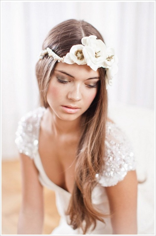 Modela tu cabello peinados de moda para novias con pelo largo 2013