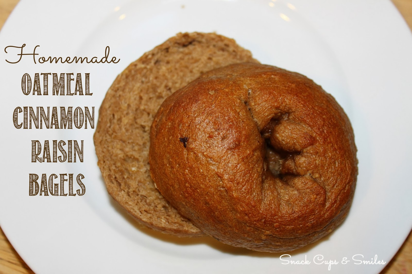 ... oatmeal cinnamon raisin bagels #recipes #bagels #oatmealbagels