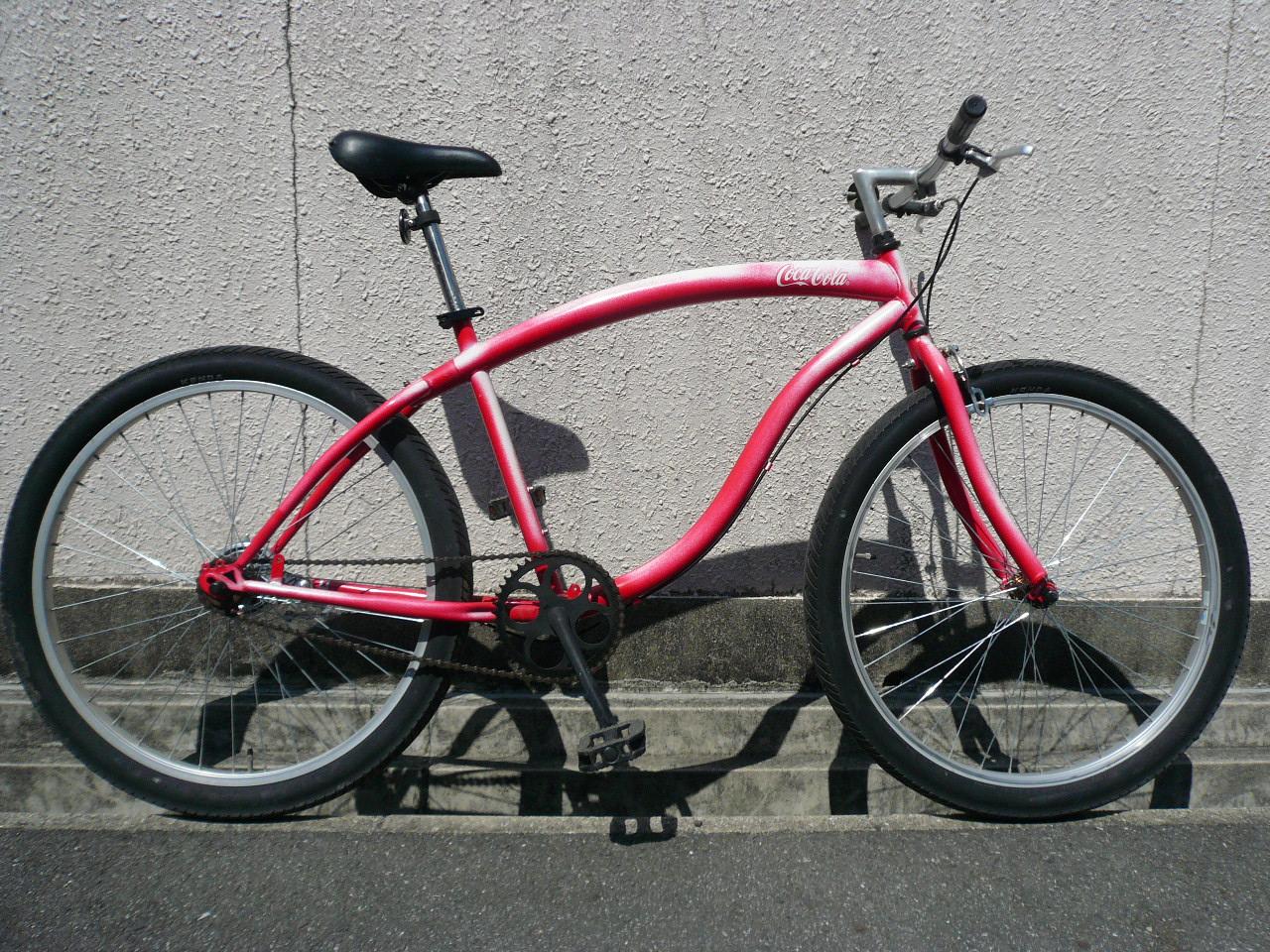 赤い自転車: ビーチクルーザー ...