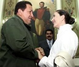 Ingrid Betancourt y Hugo Chávez