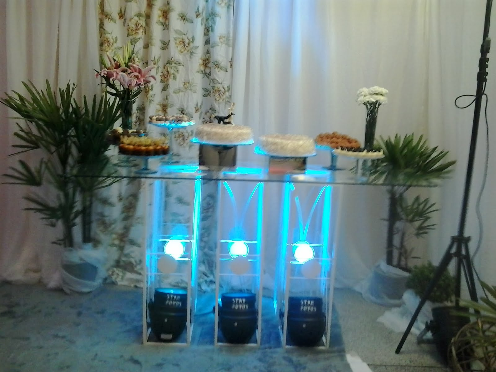 Decoração para salão de festas