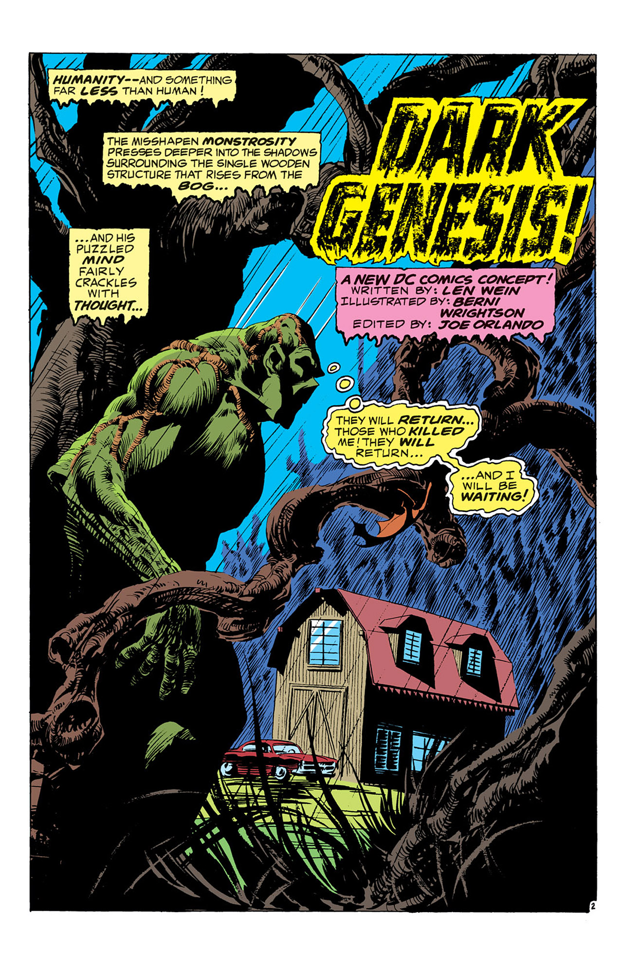 Swamp Thing (1972) Issue #1 #1 - English 3