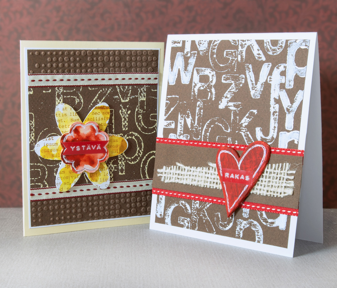 Card making ideas: Upcycling old chipboards