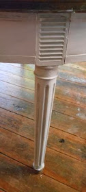 fluted legs, detail, painted furniture