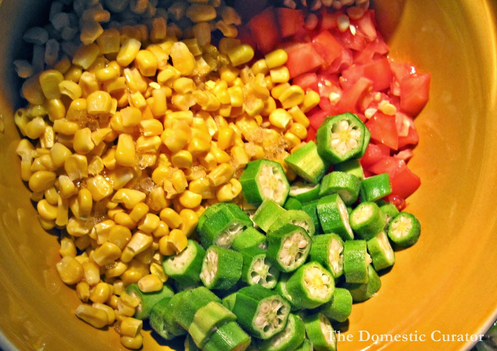 The Domestic Curator: Okra and Corn Maque Choux