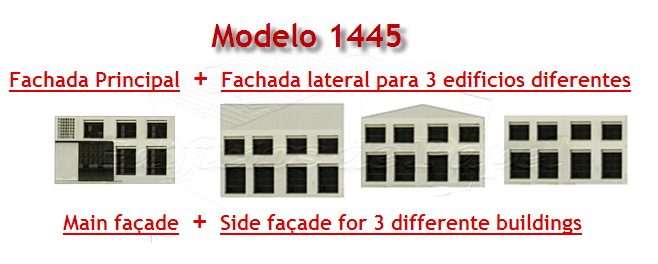 Various façades for several building types