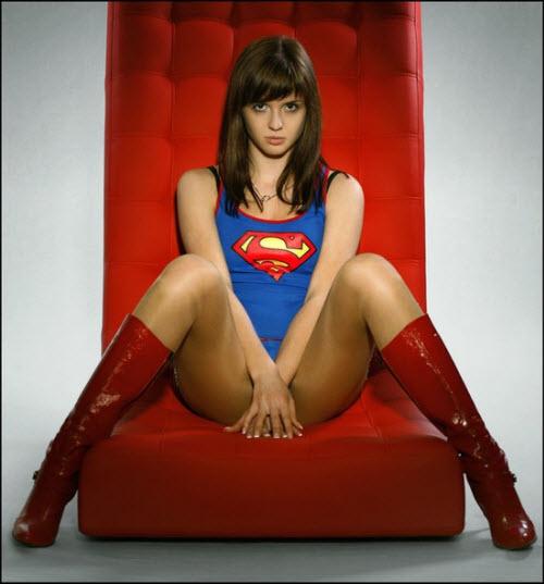 Ideas Geek para el cuarto: Disfraz sexy de Superwoman