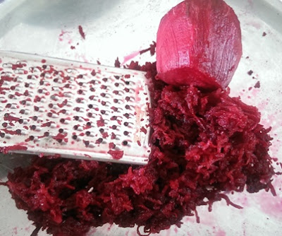 Grate the beetroot
