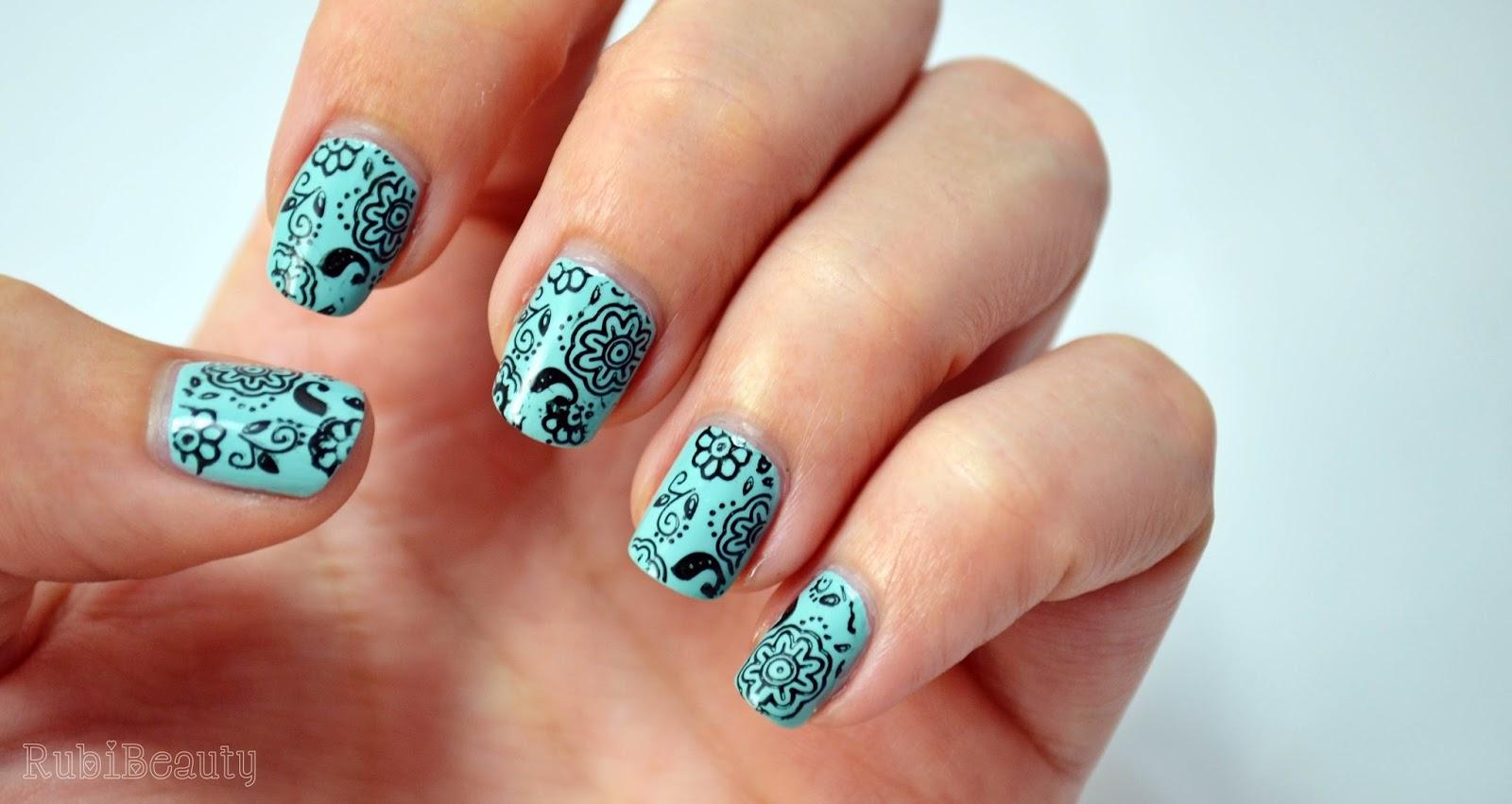 rubibeauty nail art manicura floral estampacion buyincoins