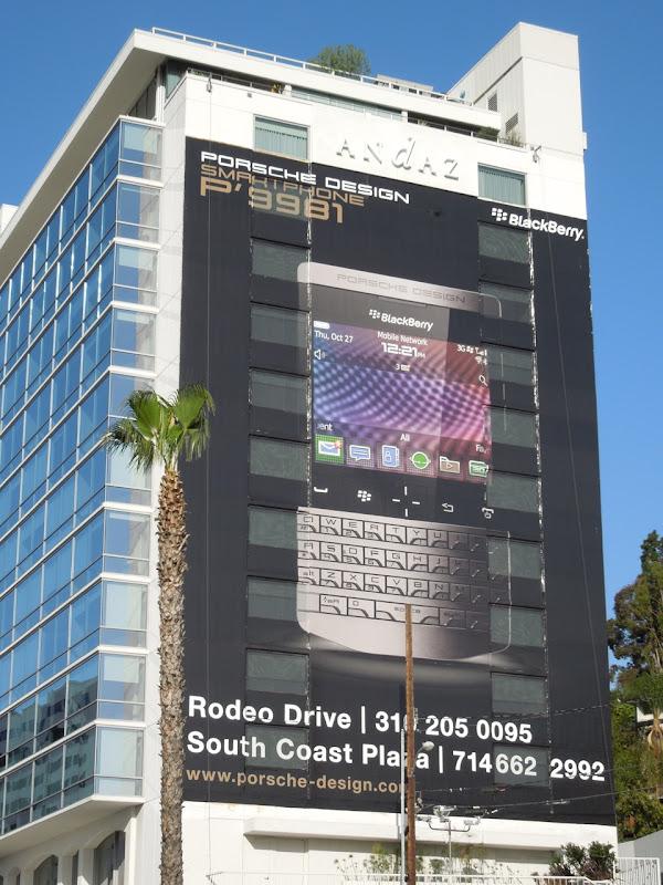 Giant Blackberry Porsche billboard
