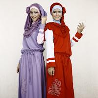 Busana muslim lebaran 2014 anak perempuan model kaos