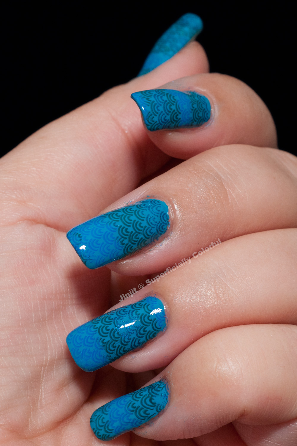 Sally Hansen Blue Me Away! Mermaid Stamping Manicure