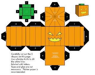 activités manuelles paper toys citrouille halloween