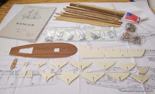 model ship kit, plank on bulkhead, Corel, Ranger