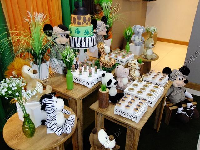 Marcadores Aniversários , Decoração de Festas , Mickey Safári