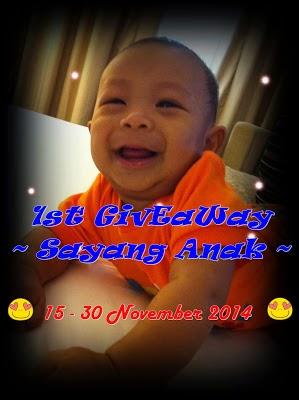 http://mamamuizlife.blogspot.com/2014/11/1st-giveaway-sayang-anak.html