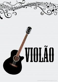 capas caderno de musica instrumentos musicais violão para imprimir grátis