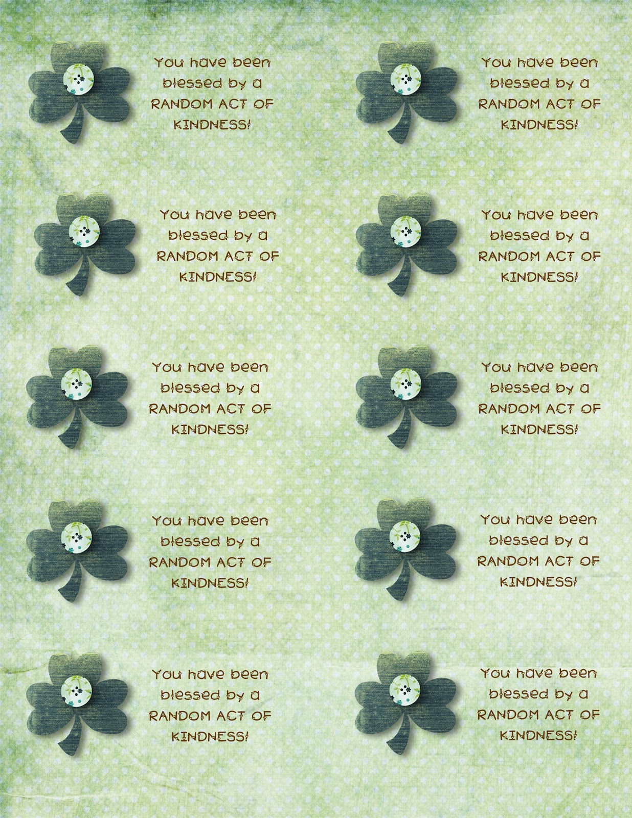 Justina s random acts of kindness printable cards