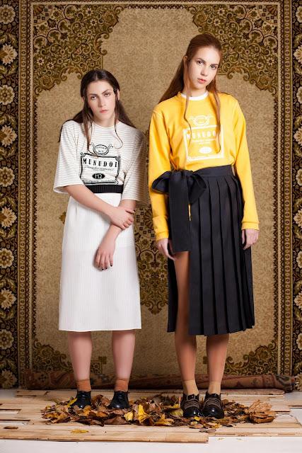 AW 12  skirt and print shirt