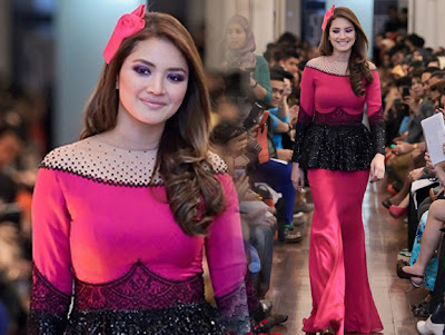 (gambar) aset asli fazura yang menonjol buatkan penonton terkesima!