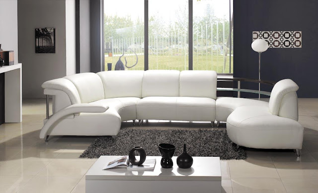 White Sectional Sofa Living Room Designs (4 Image)