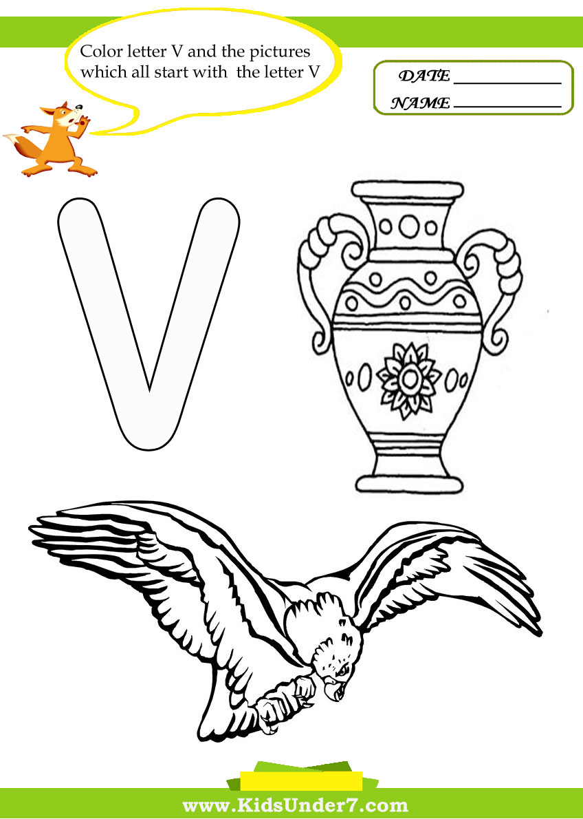 Letter v coloring pages to print - Letter U Worksheets And Coloring Pages Letter W Worksheets And Coloring Pages