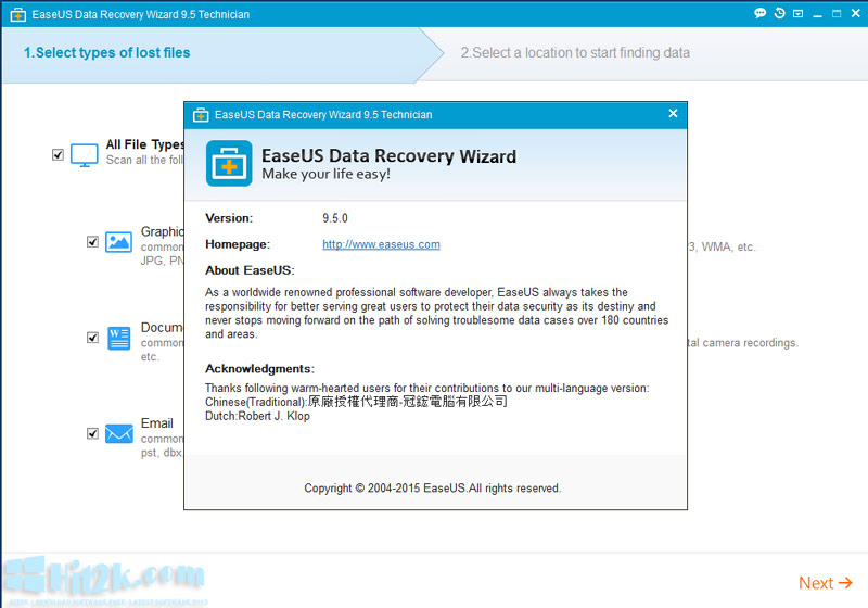 easeus data recovery serial key