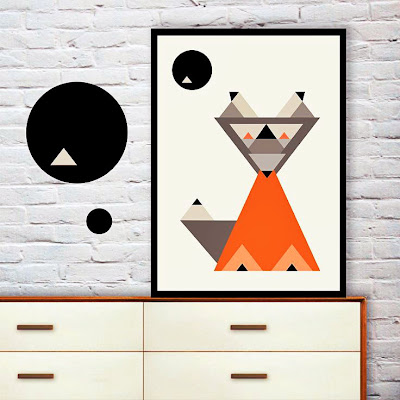 Yi Wei Lim, yiweilim, yiweilim blogspot, geometric design, geometric, geometric art, digital print, print art, fox print, fox, mr fox, fantastic mr fox, may and belle, may and belle design, may and belle australia, may and belle mr fox