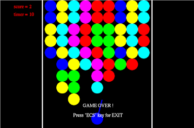 Bubble Shooter Game Computer Graphics Programs In C Opengl Projects