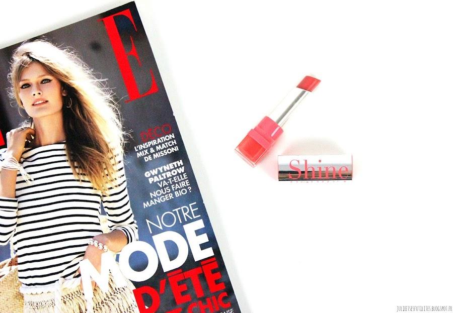 Bon plan et revue: Le rouge à lèvres Shine Edition Sunset Peach de Bourjois