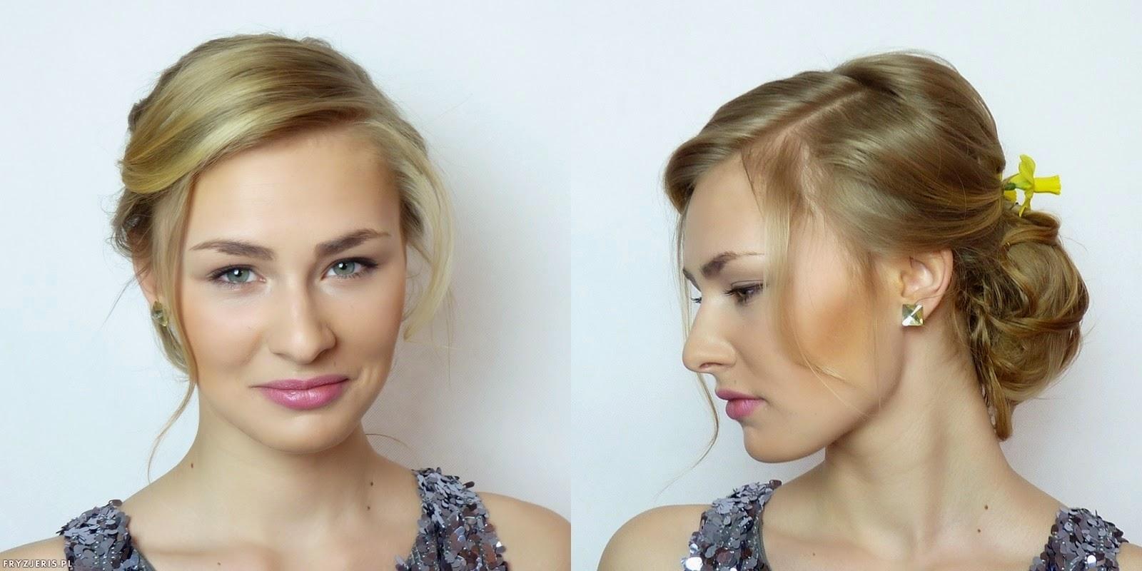 fryzura ślubna z kwiatami - 3