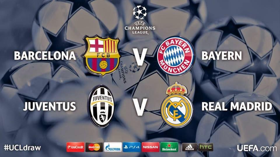 Listas semifinales Champions League