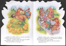 """Mi primer libro de cuentos """"El gallito Crestita"""".  Una tía me leía pero cuando ella no estaba..."""