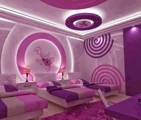 Decoración de Interiores : Cuarto violeta