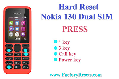 Hard Reset Nokia 130 Dual SIM