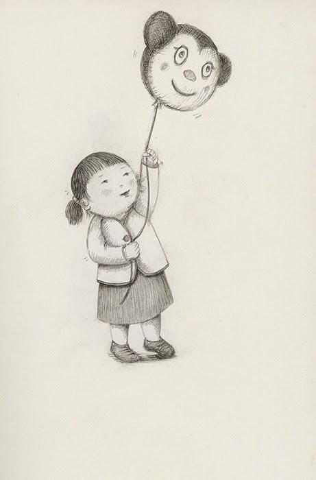little girl with balloon - yara dutra