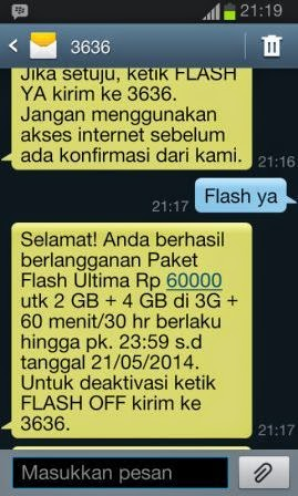 Paket Telkomsel Flash Ultima 6GB Hanya 60 Ribu