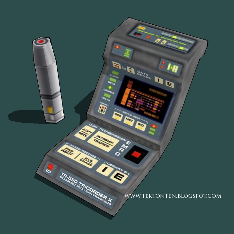 Medical Tricorder Paper Model