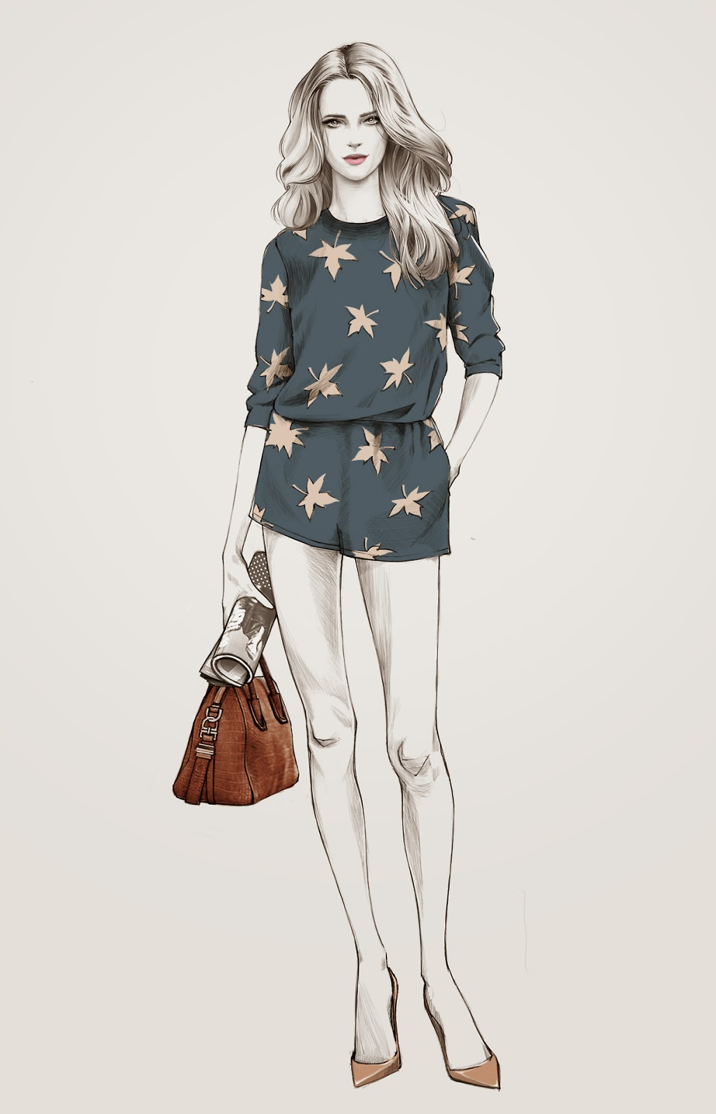 Fashion illustration portfolio sets