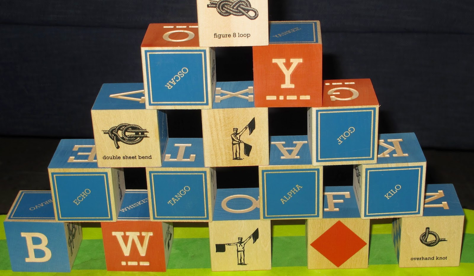 Nautical alphabet blocks from Uncommon Goods