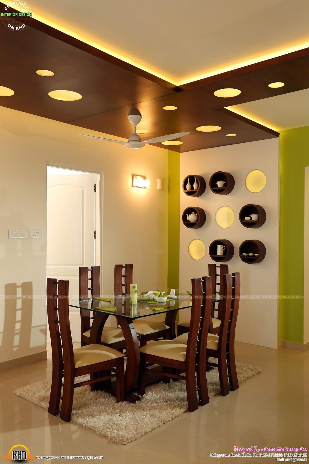 Kerala flat interior design kerala home design and floor - Kerala home interior design plans ...
