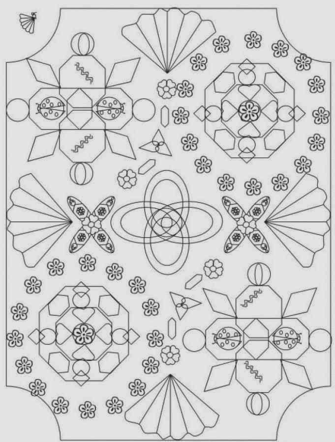5 Easy Origami Advance Mandala Coloring Pages Print Out For Kids Garden
