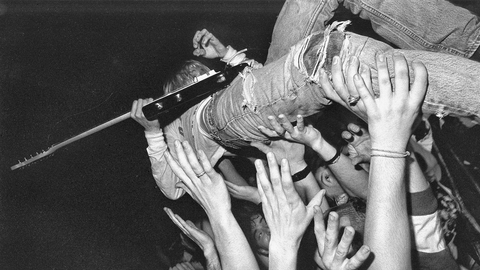 Kurt Cobain grunge mosh pit